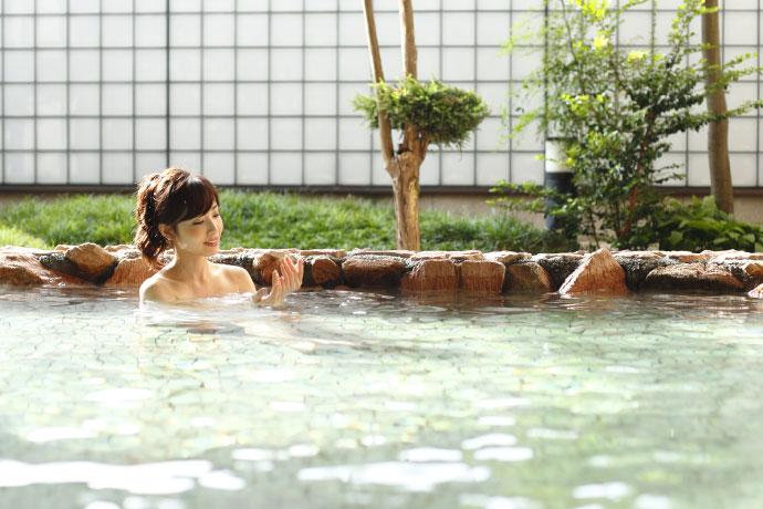 一番風呂を楽しむ